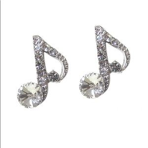 Divva Style Jewelry - Crystal Music Note Earrings
